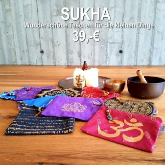 sukha yoga tasche für kleine dinge handarbeit