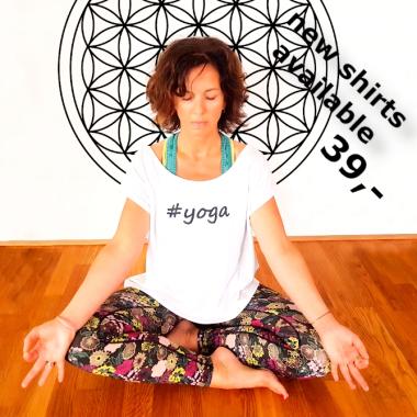 kobrika tshirt #yoga weiss baumwolle